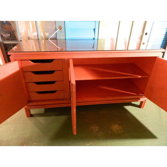 Vintage Ficks Reed Coral Sideboard - Image 5 of 11