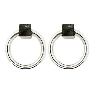 Addison Weeks Porter RIng Pull, Nickel & Labradorite - a Pair For Sale