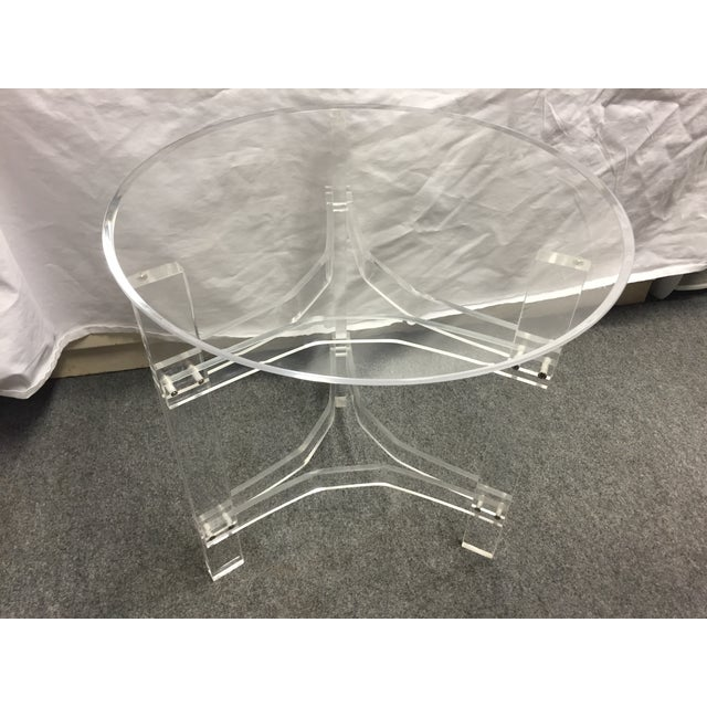 Mid-Century Modern Lucite Side Table - Image 4 of 9