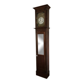 Antique French Morbier Comtoise Grandfather Clock For Sale