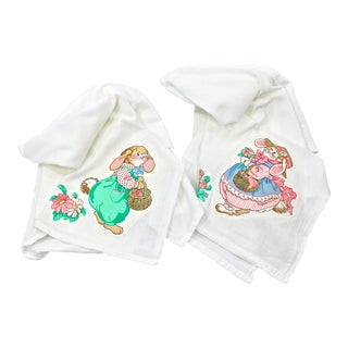 Easter Bunny Kitchen Towels, S/2