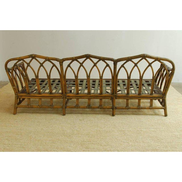 McGuire Organic Modern Bamboo Rattan Sofa For Sale - Image 9 of 13