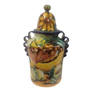 Majolica Guanajuato Pottery Jar For Sale
