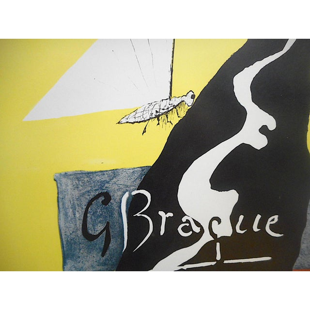 Abstract Vintage Mid 20th Century Modern Poster-Georges Braque 1953 For Sale - Image 3 of 7