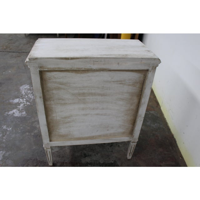 20th Century Vintage Swedish Gustavian Style Nightstands - a Pair For Sale - Image 10 of 11