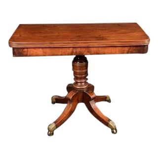 19th Century Regency Rounded Rectangular Mahogany Tea Table For Sale