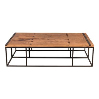 Sarreid Small Antique Door Table For Sale