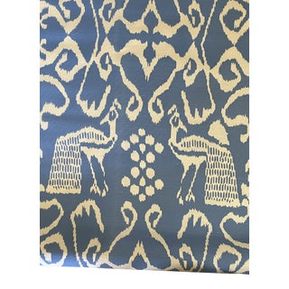 China Seas Quadrille Bali II French Blue on Tint Fabric - 3 6/8 Yards of For Sale