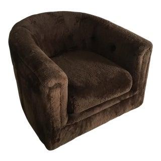 1970s Milo Baughman for Thayer Coggin Plush Swivel Chair
