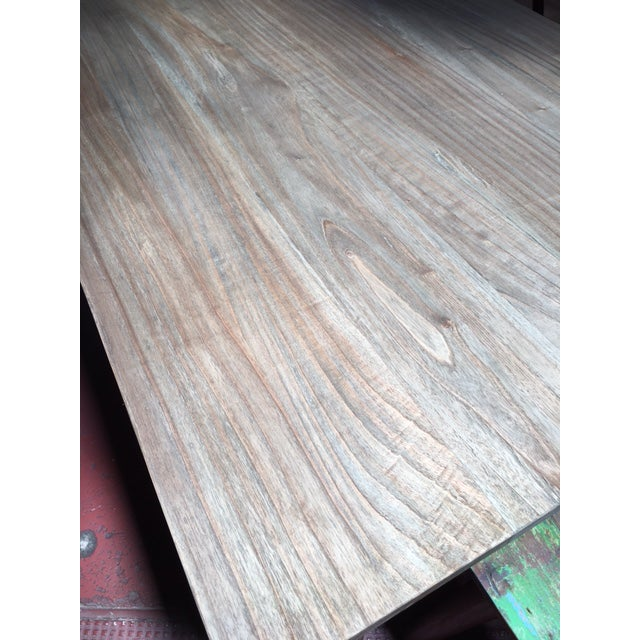 Reclaimed Ball Leg Table For Sale In Los Angeles - Image 6 of 6
