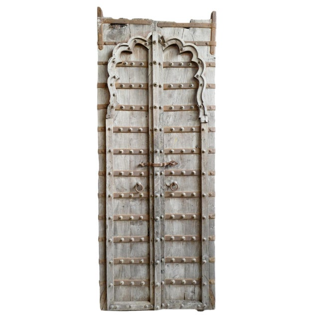 Mid 20th Century Tall Antique Raja Door For Sale - Image 5 of 5