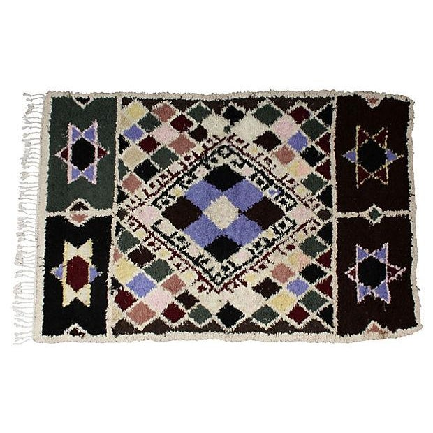 Moroccan Azilal Rug - 3′5″ × 5′6″ For Sale