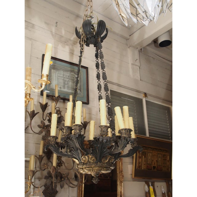19th Century French Bronze Empire Chandelier - Image 9 of 9