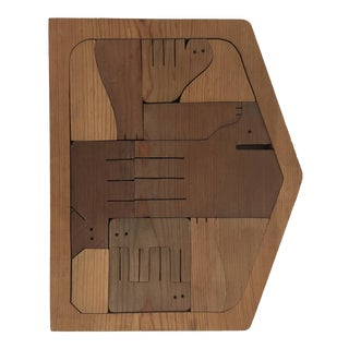 Modern Designed Wood Nativity Scene Puzzle For Sale