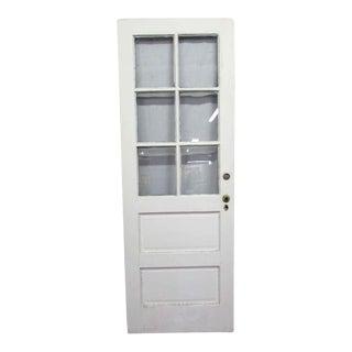White Single Entry Door