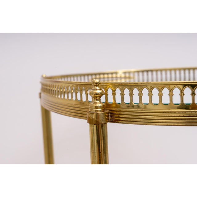 Hollywood Regency Oval Brass Bar Cart, 1970s Florence Italy For Sale - Image 11 of 13