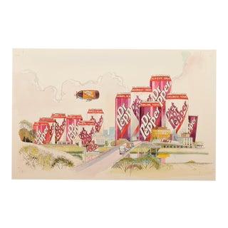 Dr Pepper City Original Illustration Art