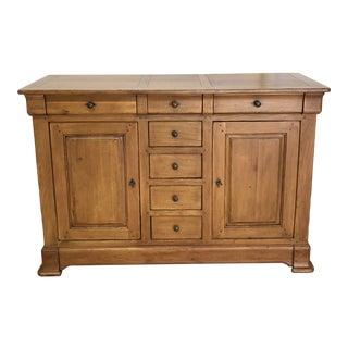 French Oak Storage Sideboard For Sale