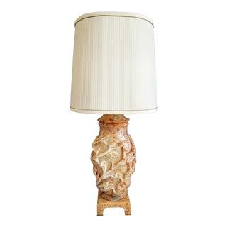 Marbro Hand-Carved Alabaster Lamp For Sale