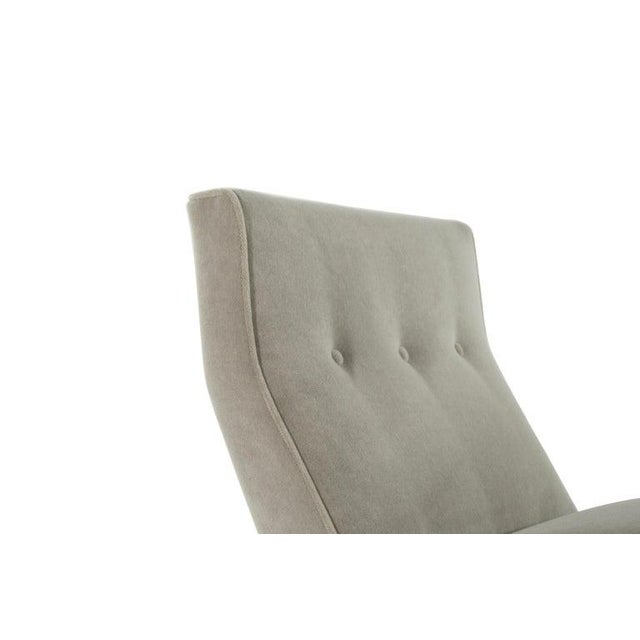 Classic Slipper Chairs by Jens Risom C. 1950s - a Pair For Sale - Image 10 of 12