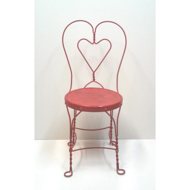Red Iron Ice Cream Cafe Chair - Image 3 of 10