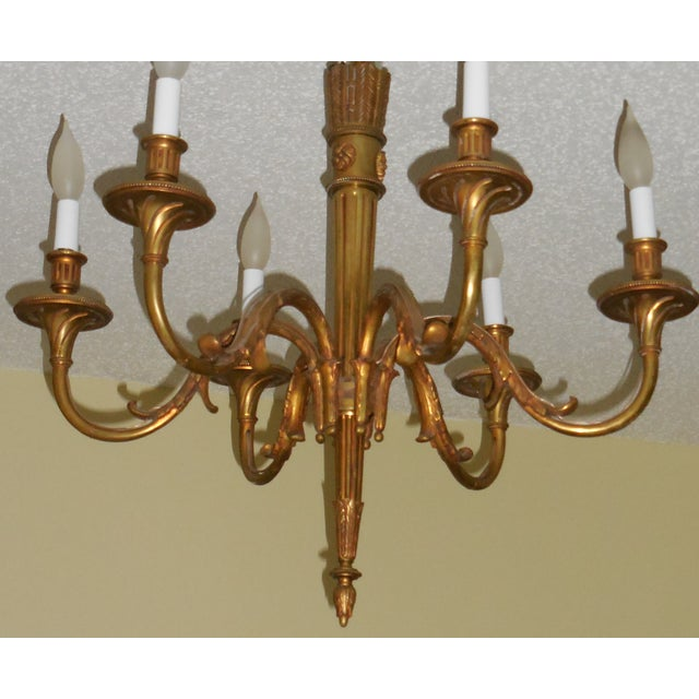 Antique Bronze French Chandelier - Image 3 of 11