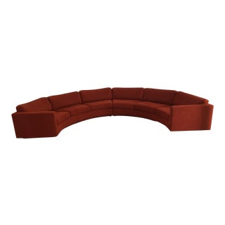 Vintage Milo Baughman for Thayer Coggin #825 Ultrasuede Sectional Sofa - 2 Pieces