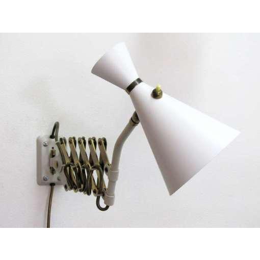 German White and Brass Scissor Lamp - Image 7 of 10