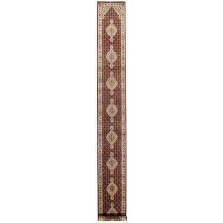 """Traditional Pasargad N Y Tabriz Design Hand-Knotted Rug - 2'8"""" X 22'6"""""""