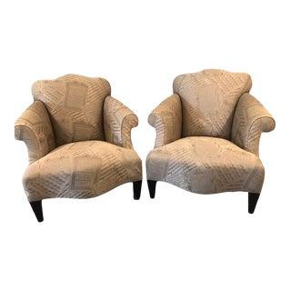 Donghia John Hutton Luciano Club Chairs - A Pair For Sale