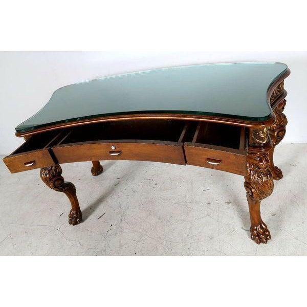 Medieval English Carved Wood Desk - Image 2 of 7