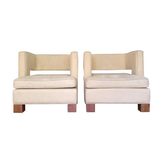 Vintage Club Chairs - Pair - Image 1 of 6