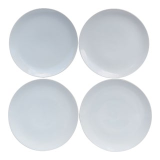 Arzberg White Chop Plates - Set of 4 For Sale