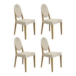 Idealsedia Italian Oval Back Dining Side Chairs - Set of 4