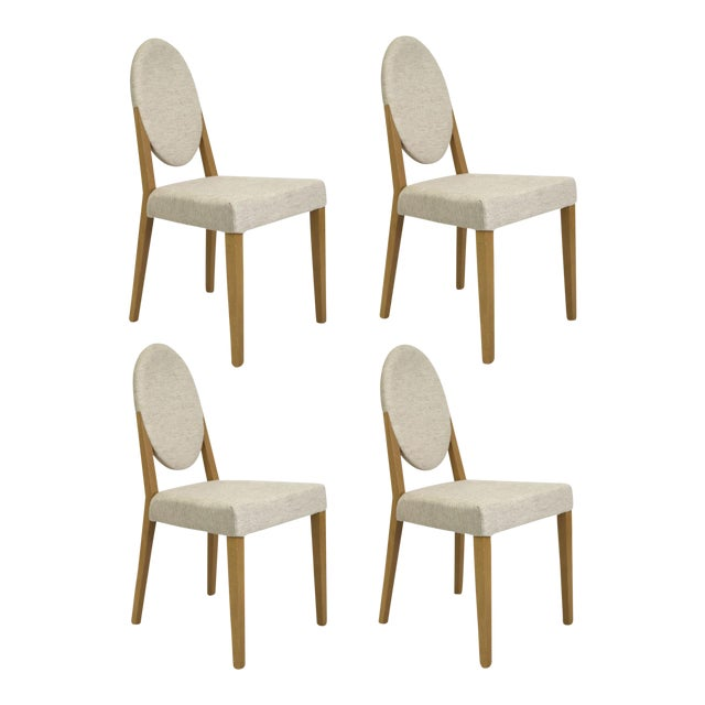 Idealsedia Italian Oval Back Dining Side Chairs - Set of 4 - Image 1 of 9