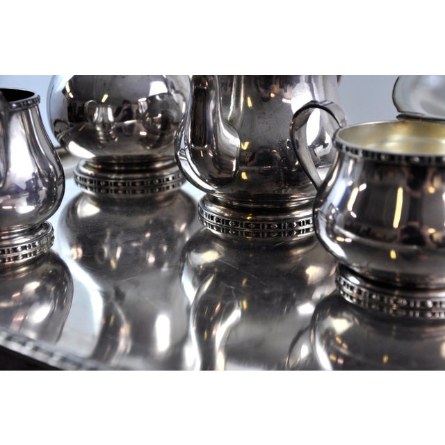 Silver French Silverplated Coffee Tea Serving Set - 5 Pieces For Sale - Image 8 of 12