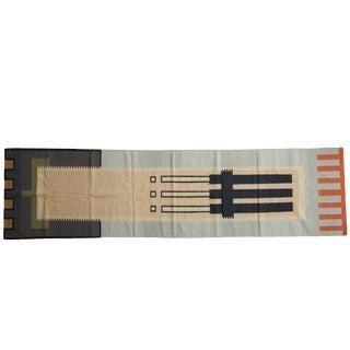 "Vintage Contemporary Kilim Rug Runner - 3' X 11'5"" For Sale"