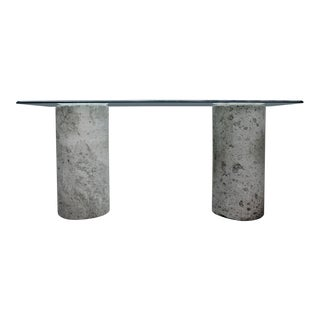 Cantera Stone Console Table From Mexico For Sale