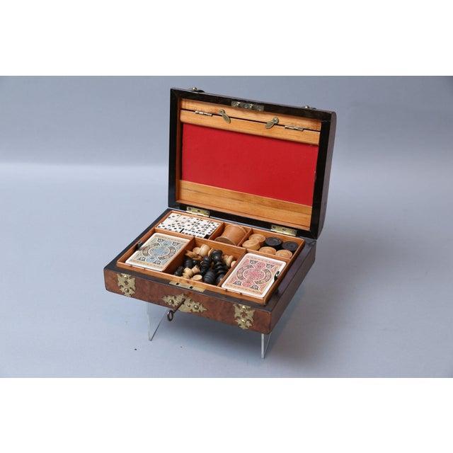 Antique English Games Compendium, Lock & Key For Sale - Image 9 of 9