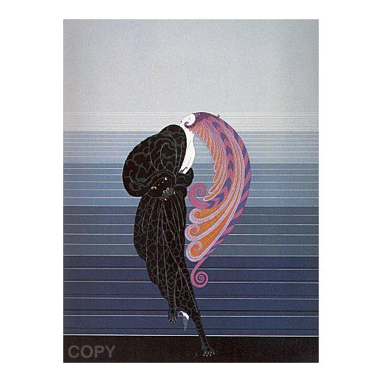 """Erte Signed """"Beauty and the Beast"""" Serigraph For Sale"""