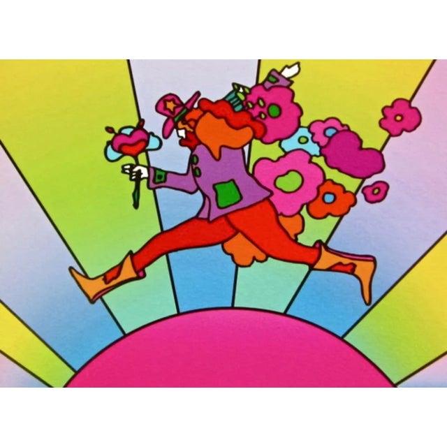 Pop Art Peter Max Flower Jumper Over Sunrise II 2001 For Sale - Image 3 of 3