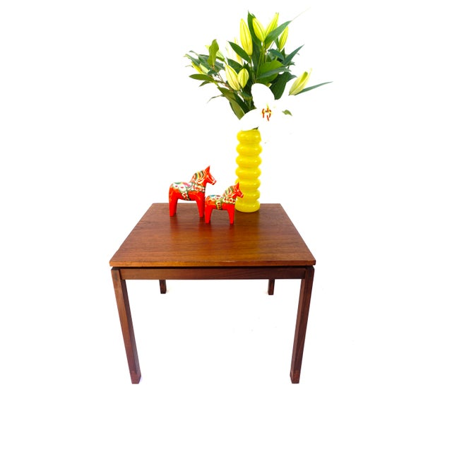 1960s Mid-Century Hans Olsen Teak End Table || Made in Denmark || One of Two For Sale - Image 5 of 13
