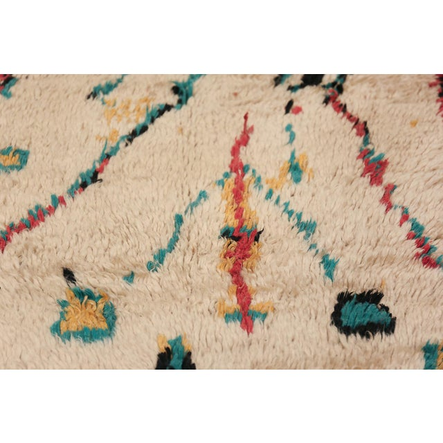 Small Vintage Moroccan Colorful Rug - 4′2″ × 7′ For Sale - Image 4 of 10