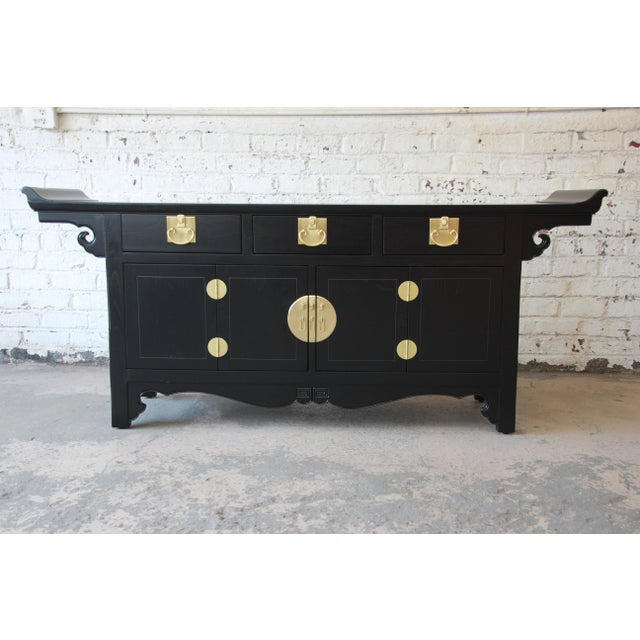 Michael Taylor for Baker Far East Collection Chinoiserie Sideboard Credenza For Sale - Image 13 of 13