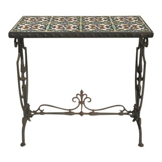 Wrought Iron Tile Top Table