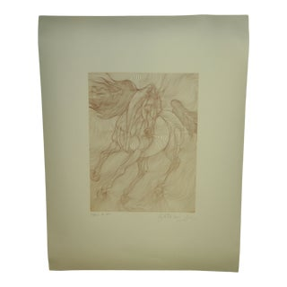Late 20th Century Guillame Azoulay Al Amir Etching Print For Sale