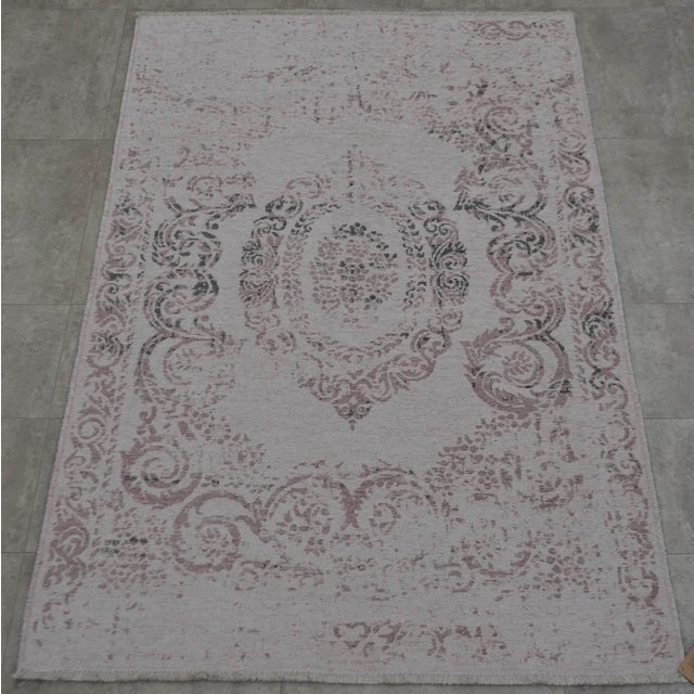 Purple Overdyed Turkish Rug - 3′11″ X 5′11″ - Image 3 of 9