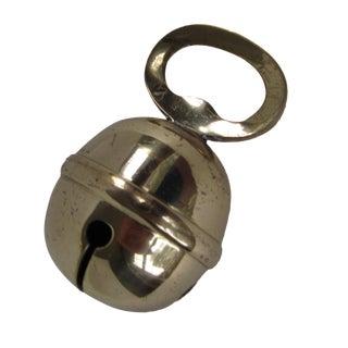 Vintage Brass Sleigh Bell Bottle Opener For Sale