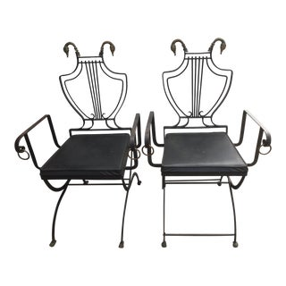 Neoclassical Samuel Copelon Armchairs - a Pair For Sale