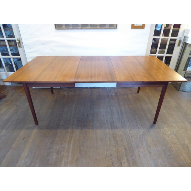 Mid 20th Century Vintage Modern Walnut Dining Table For Sale - Image 5 of 8